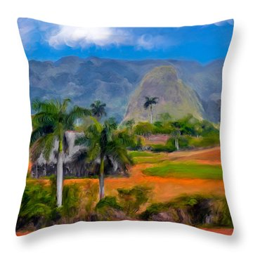 Vinales Valley. Cuba Throw Pillow