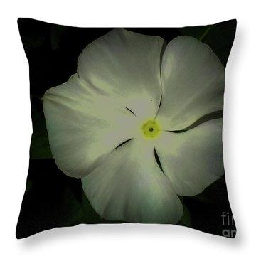 Vinca Bloom Night Glow Throw Pillow
