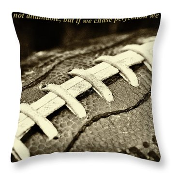 Vince Lombardi Perfection Quote Throw Pillow