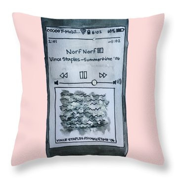 Vince Staples Throw Pillow