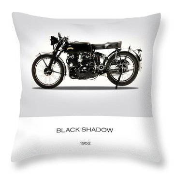 Vincent Black Shadow 1952 Throw Pillow by Mark Rogan