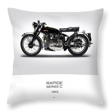 Vincent Rapide 1953 Throw Pillow by Mark Rogan