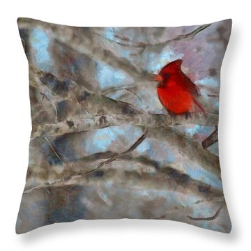Throw Pillow featuring the mixed media Vincent by Trish Tritz