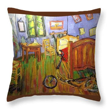 Vincent Van Go's Bedroom Throw Pillow