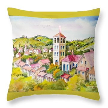 Vine Country Throw Pillow by Charles Hetenyi