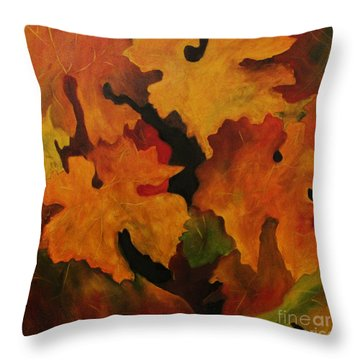 Vine Leaves Throw Pillow by John Stuart Webbstock