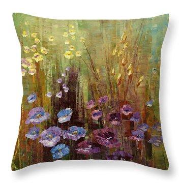 Vine Wrapt Bower Throw Pillow by Tatiana Iliina