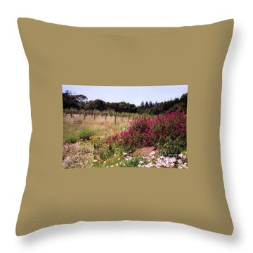 vines and flower SF peninsula Throw Pillow by Ted Pollard