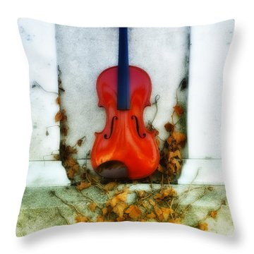 Vines And Violin Throw Pillow by Bill Cannon