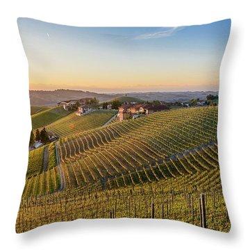 Vineyard At Barbaresco, Italy Throw Pillow