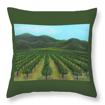 Vineyard Drive By Throw Pillow