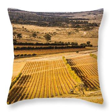 Vineyard Harvest Landscape Throw Pillow