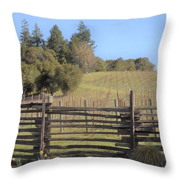 Vineyard In The Spring Throw Pillow
