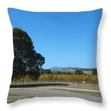 Vineyard Trees Throw Pillow