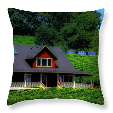Vineyards Throw Pillow