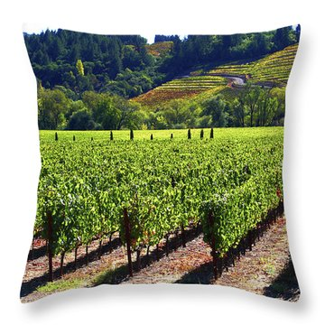 Vineyards In Sonoma County Throw Pillow