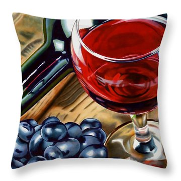 Vino 2 Throw Pillow