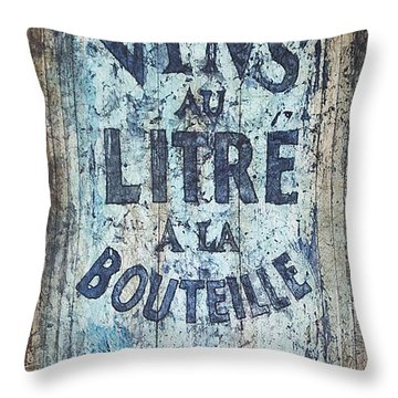 Vins Au Litre Throw Pillow