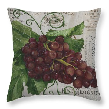 Vins De Champagne Throw Pillow