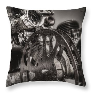 Vintage 16mm Throw Pillow