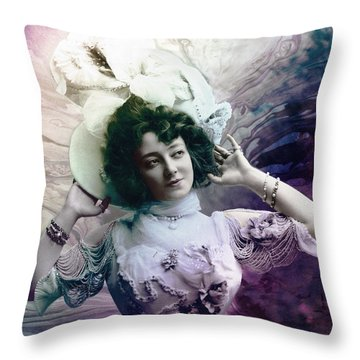 Vintage 1900 Fashion Throw Pillow