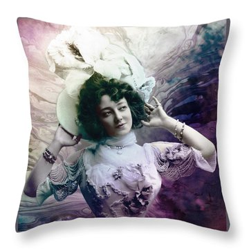 Throw Pillow featuring the digital art Vintage 1900 Fashion by Robert G Kernodle