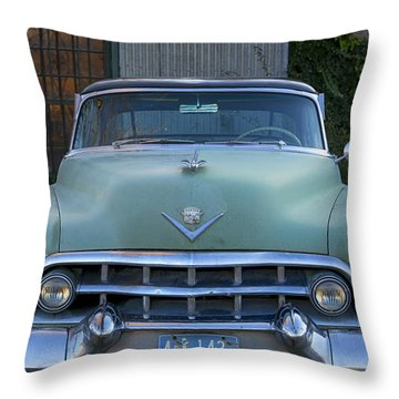 Vintage 1950s Cadillac Throw Pillow