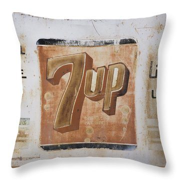 Vintage 7 Up Sign Throw Pillow
