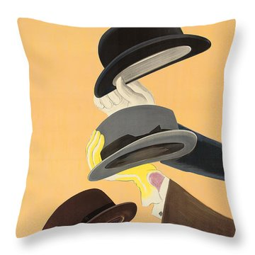 Vintage Advertising Poster For Mossant Hats Throw Pillow