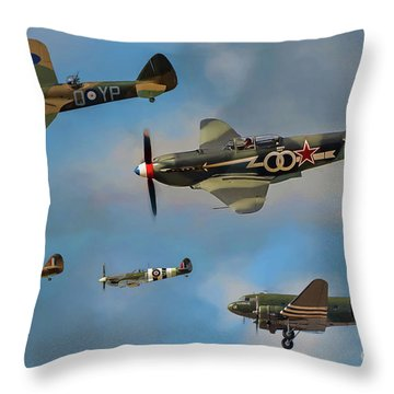 Vintage Aircraft Throw Pillow
