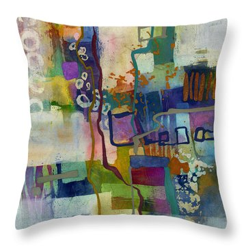 Vintage Atelier Throw Pillow by Hailey E Herrera