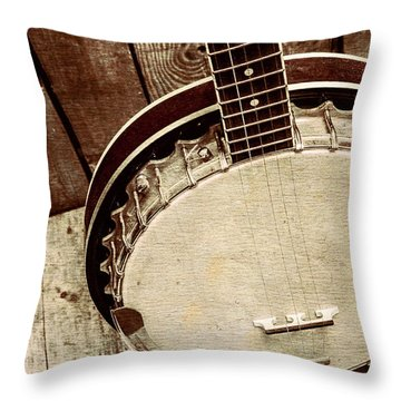 Vintage Banjo Barn Dance Throw Pillow