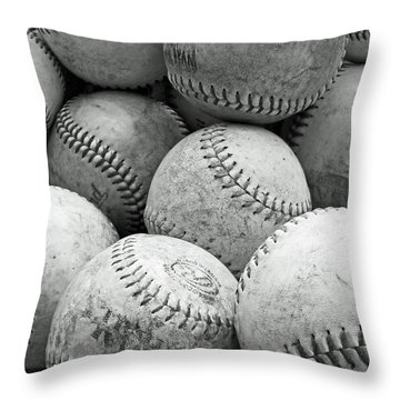 Vintage Baseballs Throw Pillow