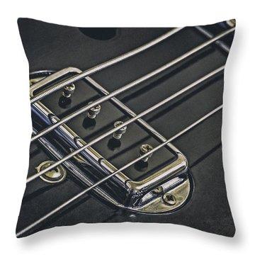 Vintage Bass Throw Pillow