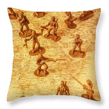 Vintage Battlefront Throw Pillow
