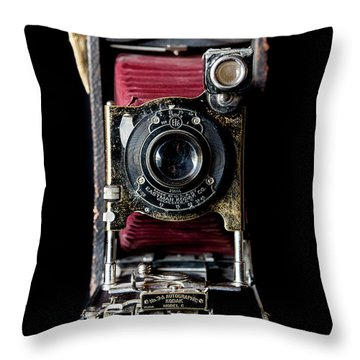 Vintage Bellows Camera Throw Pillow
