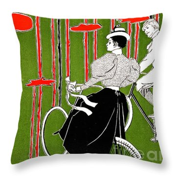 Throw Pillow featuring the photograph Vintage Bicycle Issue 1896 by Padre Art
