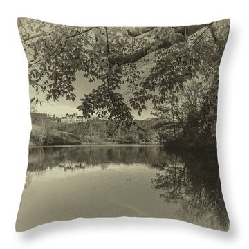 Vintage Biltmore Throw Pillow