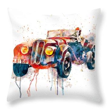 Vintage Driver  Throw Pillow