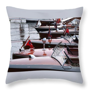 Vintage Boats Throw Pillow