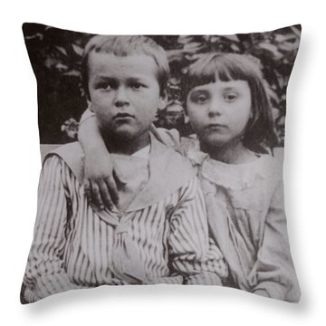 Vintage Bonnie And Clyde Throw Pillow