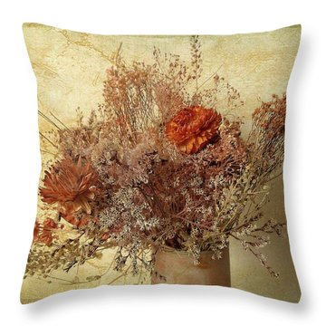 Throw Pillow featuring the photograph Vintage Bouquet by Jessica Jenney