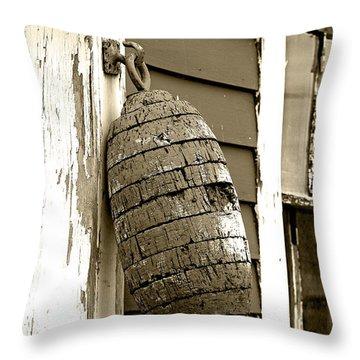 Vintage Buoy Throw Pillow