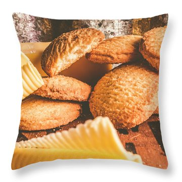 Vintage Butter Shortbread Biscuits Throw Pillow
