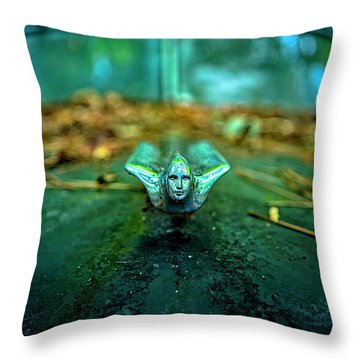 Vintage Cadillac Ornament Throw Pillow