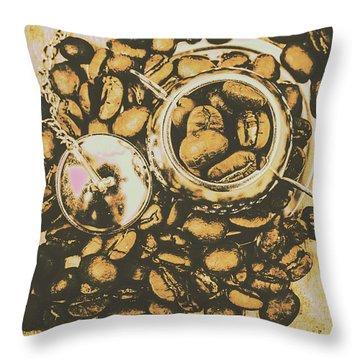 Vintage Cafe Artwork Throw Pillow