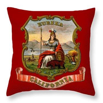 Vintage California Coat Of Arms Throw Pillow