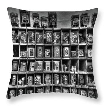 Vintage Camera Matrix Throw Pillow