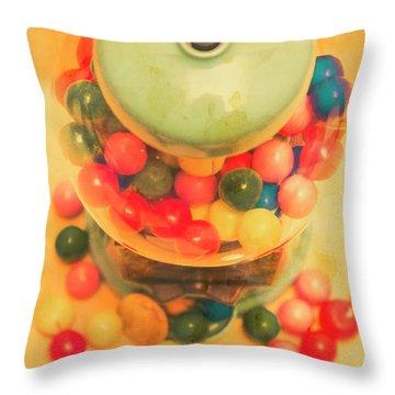Vintage Candy Machine Throw Pillow