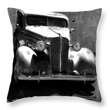 Vintage Car Art 0443 Bw Throw Pillow